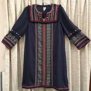 Anthropologie Akemi + Kin Embroidered Shift Dress